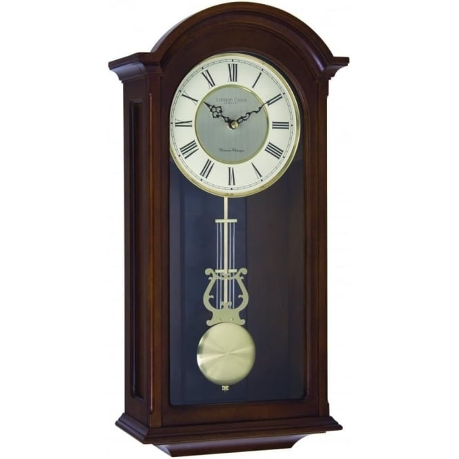 London Clock Company Wooden Westminster Chime Wall Clock with Pendulum 24378