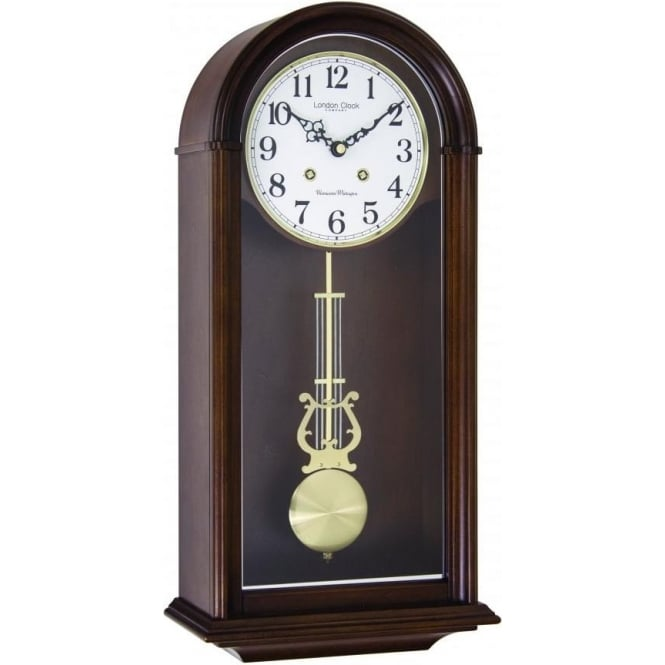 London Clock Company Wooden Westminster Chime Wall Clock with Pendulum 24379