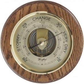 Woodford Round Wooden Barometer 1622