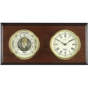 Woodford Wooden Barometer Weather Forecast & Clock 1617