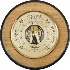 Woodford Wooden Round Barometer Weather Forecast 1628