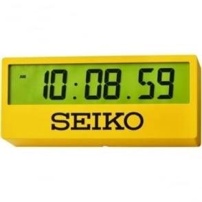Yellow Seiko Quartz Battery Digital Wall Clock QHL073Y