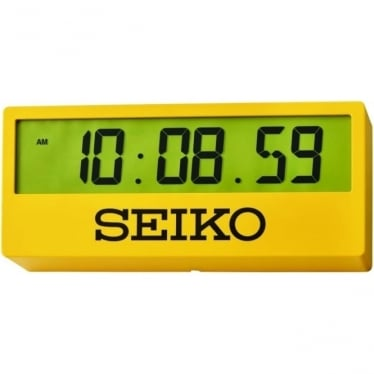 Yellow Seiko Quartz Battery Digital Wall Clock QHL073Y